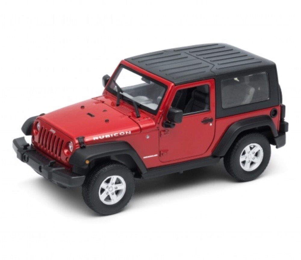 1:24 Jeep Wrangler Rubicon Soft Top (Red) WL22489HW