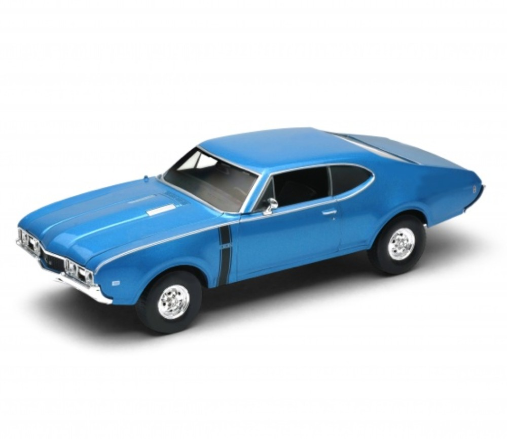 1:24 1968 OLDSMOBILE 442 (Metallic Blue) WL24024W