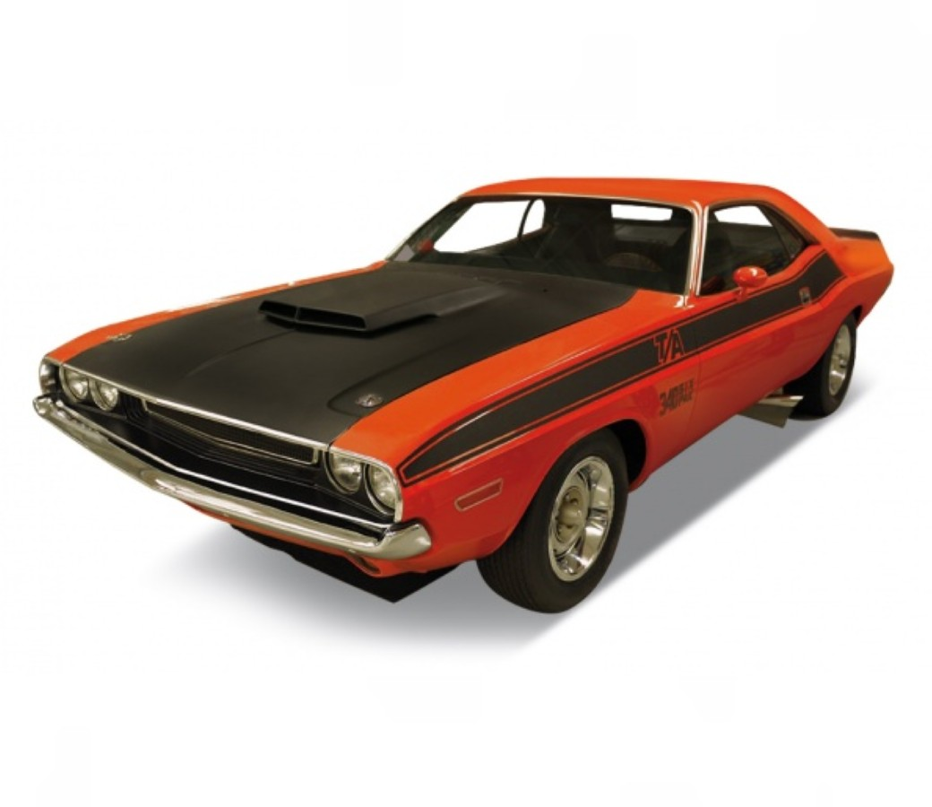 1970 DODGE CHALLENGER T/A - 1:24 (Orange+Matt Black) WL24029W