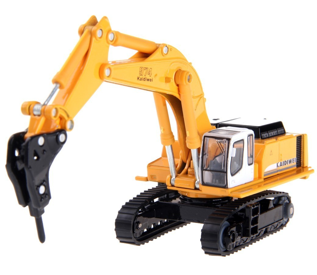 Rock Breaker Excavator 1:87 Heavy Diecast Model DC-620016