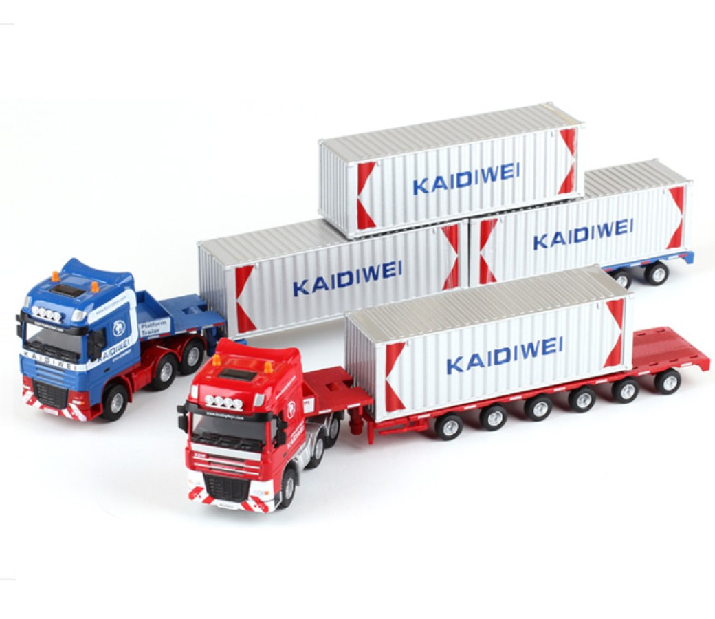 Container Truck 1:50 Heavy Diecast Model KDW625022W