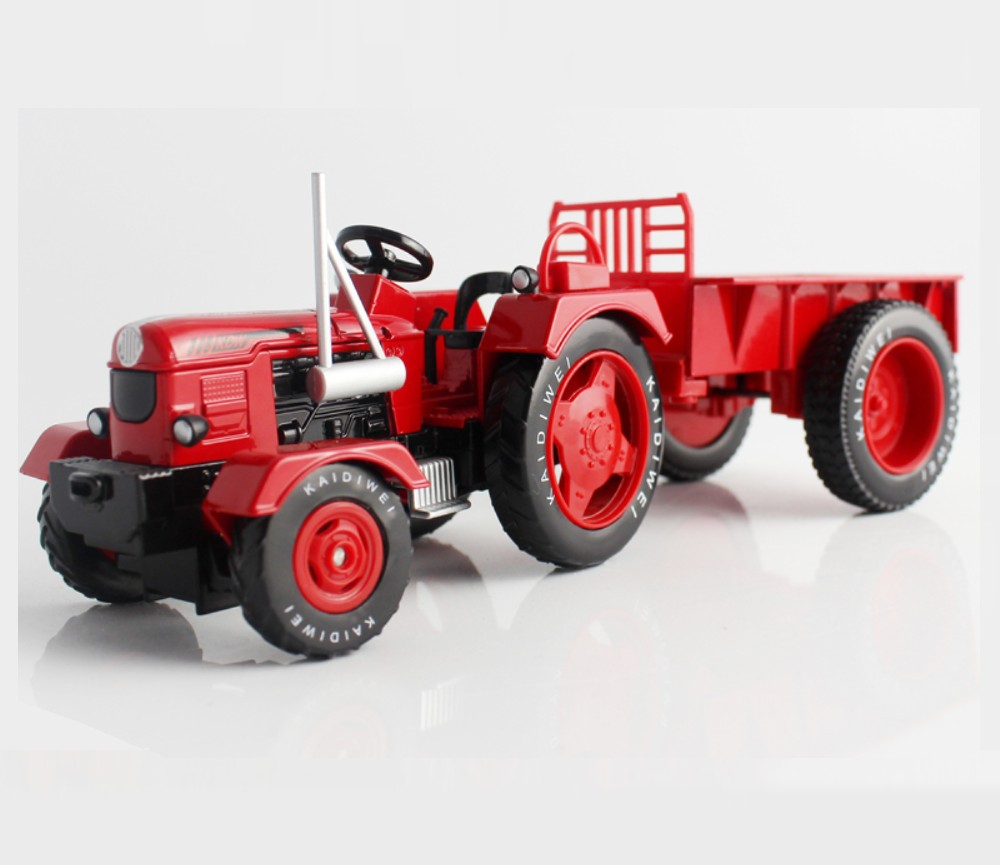 1:18 Tractor With Tipping Trailer, Heavy Die cast Model KDW691013W