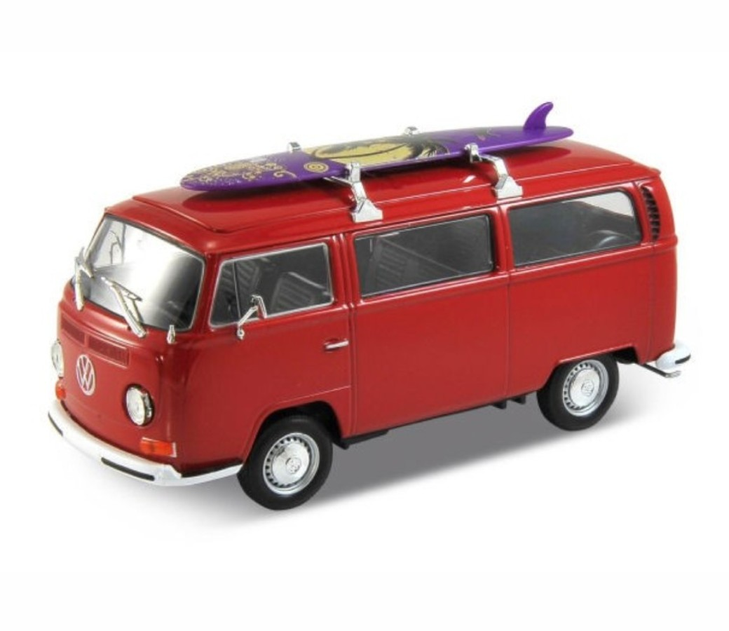 1972 VW Bus T2 with Surfboard 1:38 (Asstd.) WL42347SB-D